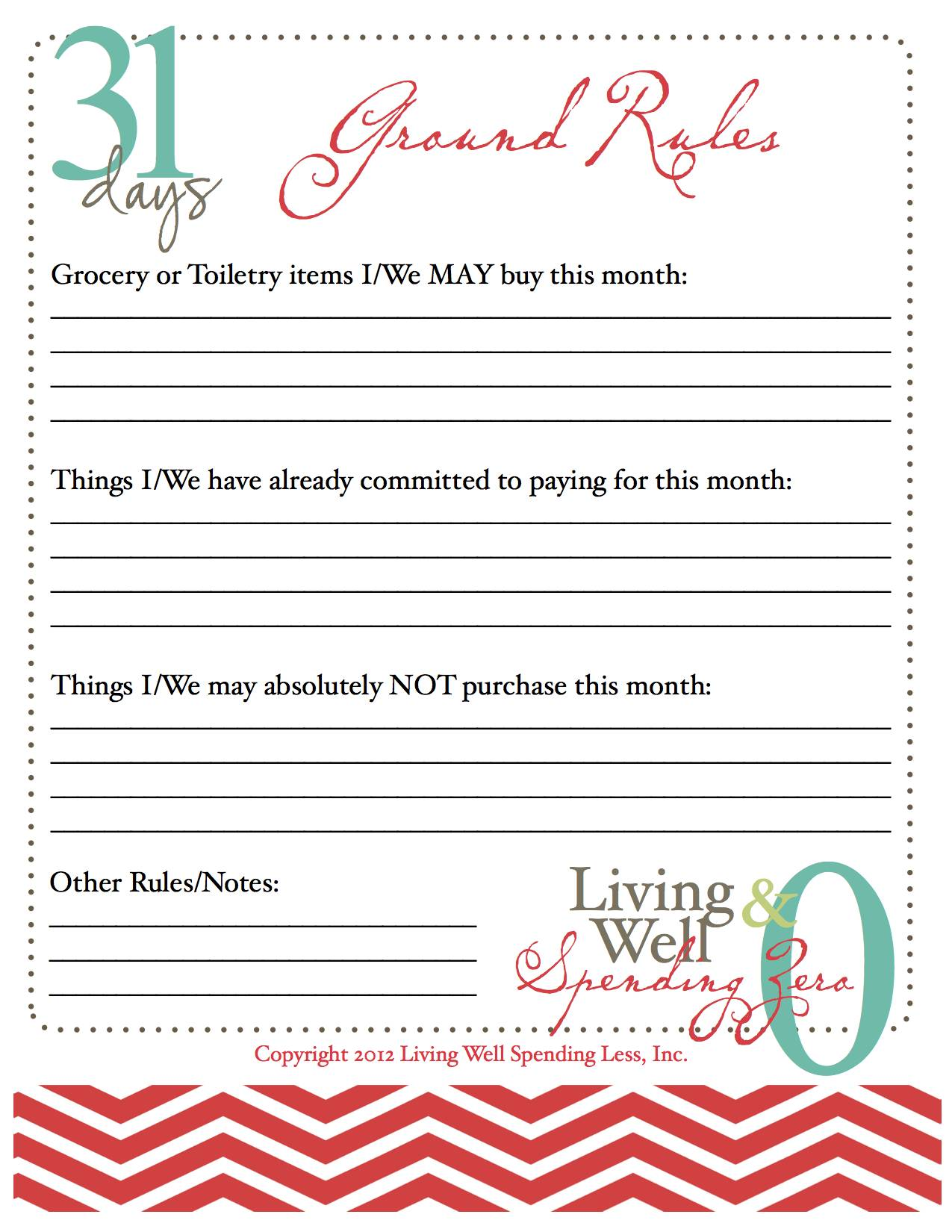 October Challenge Spending Freeze Living Better With Less