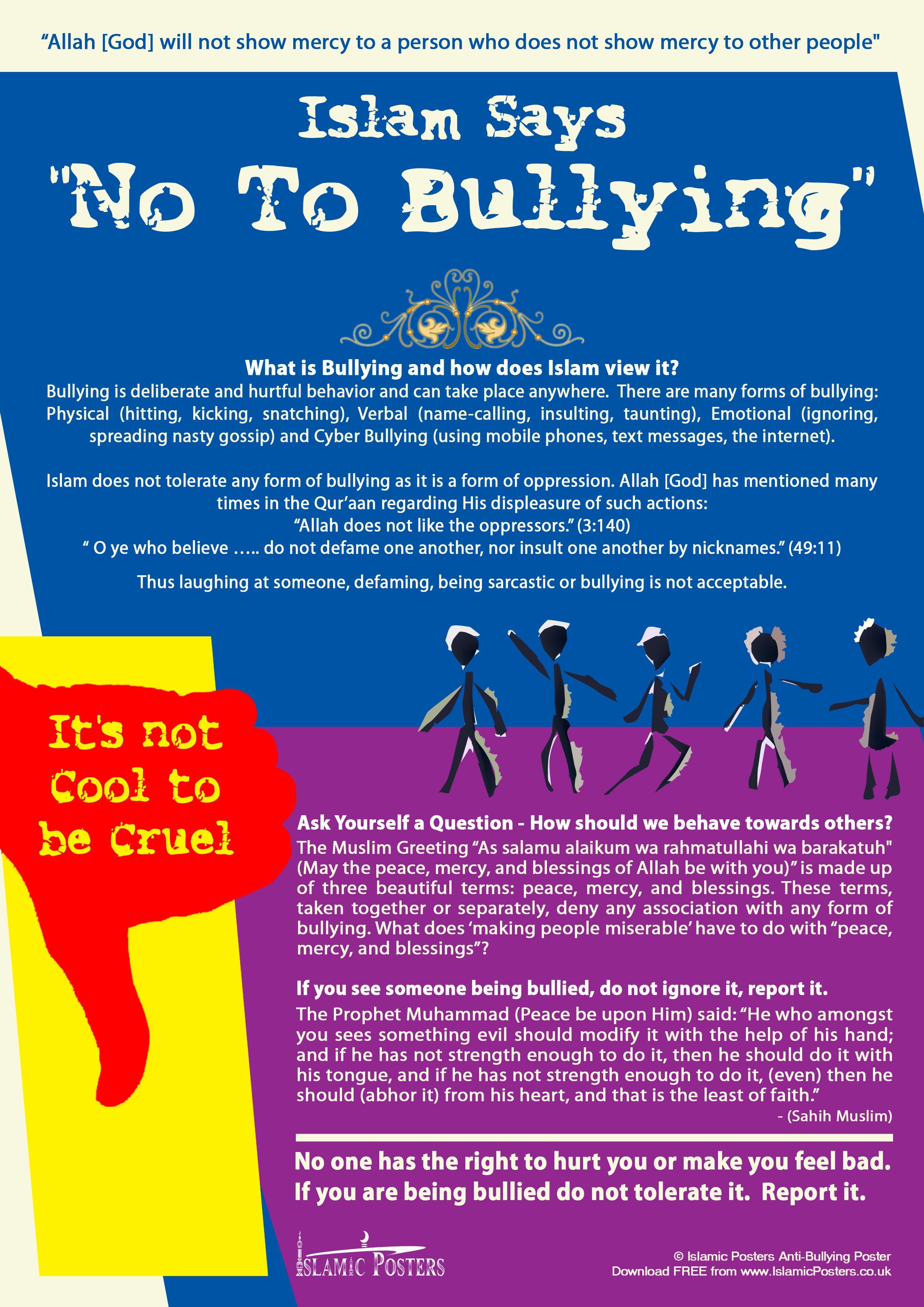 Bullying In Islam Mylittlebreathingspace Ismail Satia