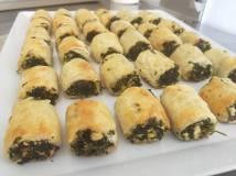 Spinach feta rolls