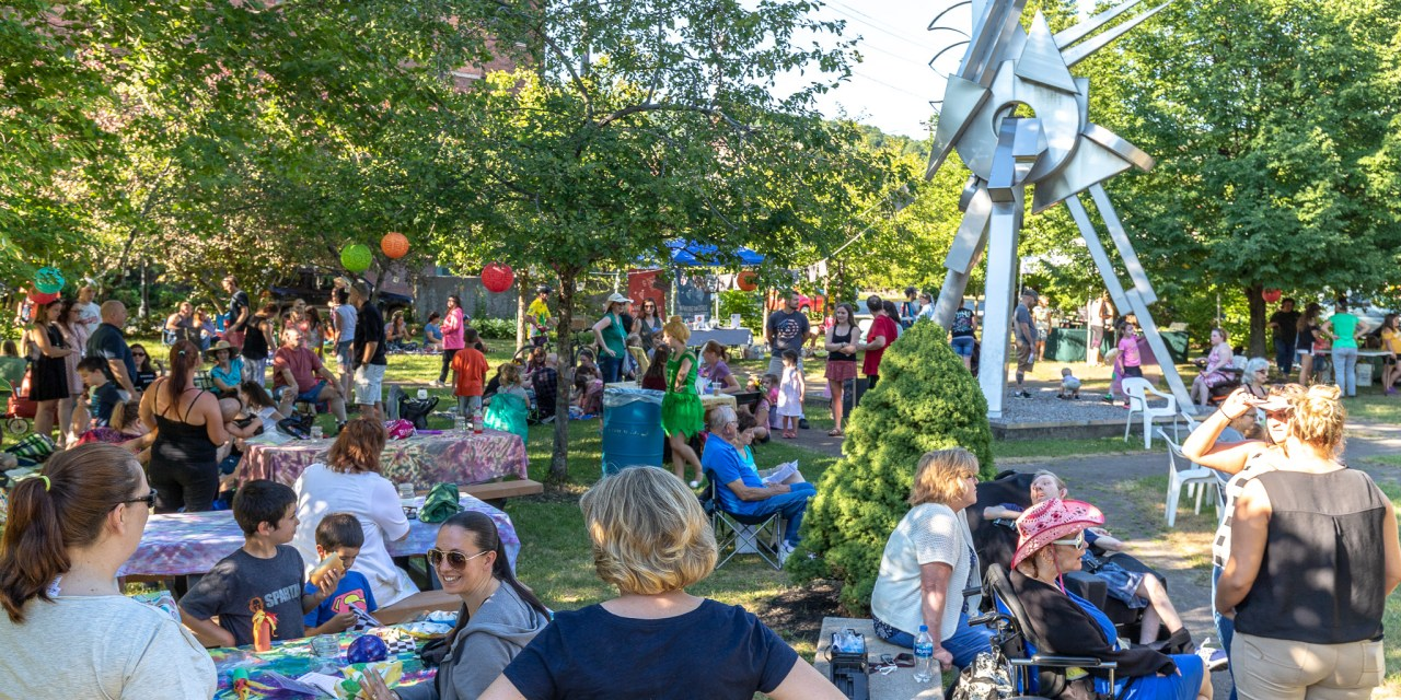 Perfect Weather Greats Attendees at Midsummer Night's Picnic at Canal Place
