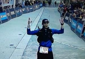 Rob Richard crosses the finish line.