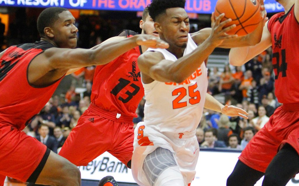 Brissett scores 20, No. 16 Syracuse beats E Washington 66-34