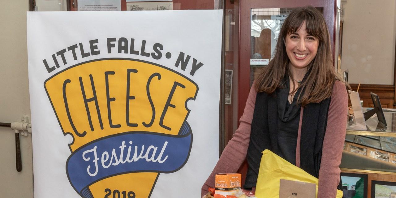 Cheese Festival logo contest winner visits Little Falls