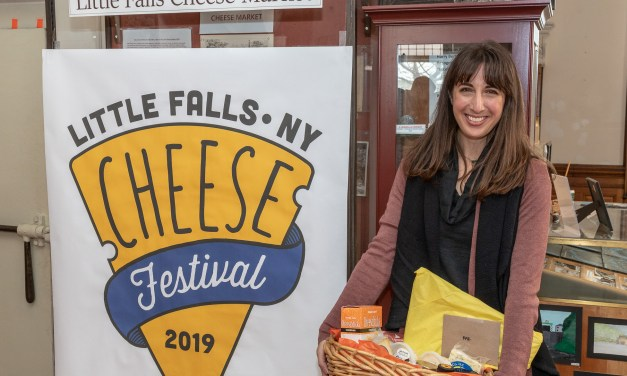 Cheese Festival logo contest winner visits Little Falls