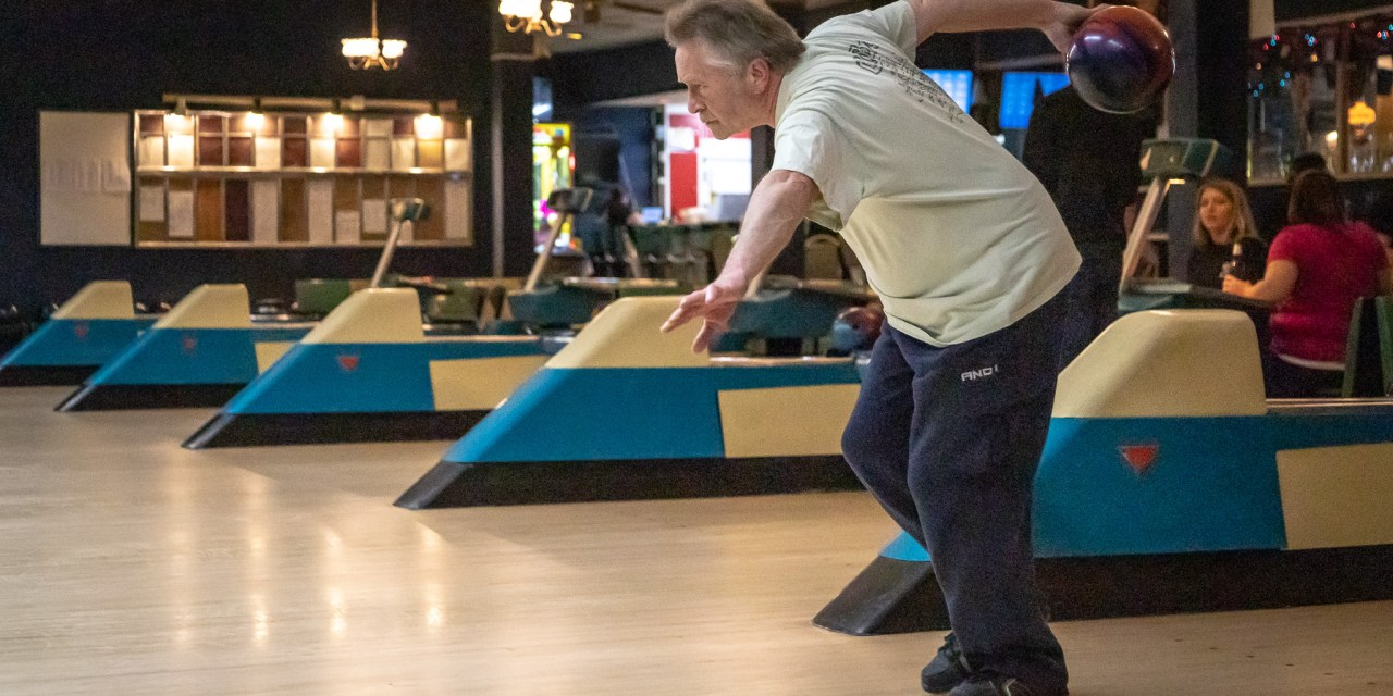 Ken Noonan of Rocky's Ringers strikes a perfect game