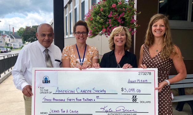 Little Falls Hospital's employees donate to American Cancer Society
