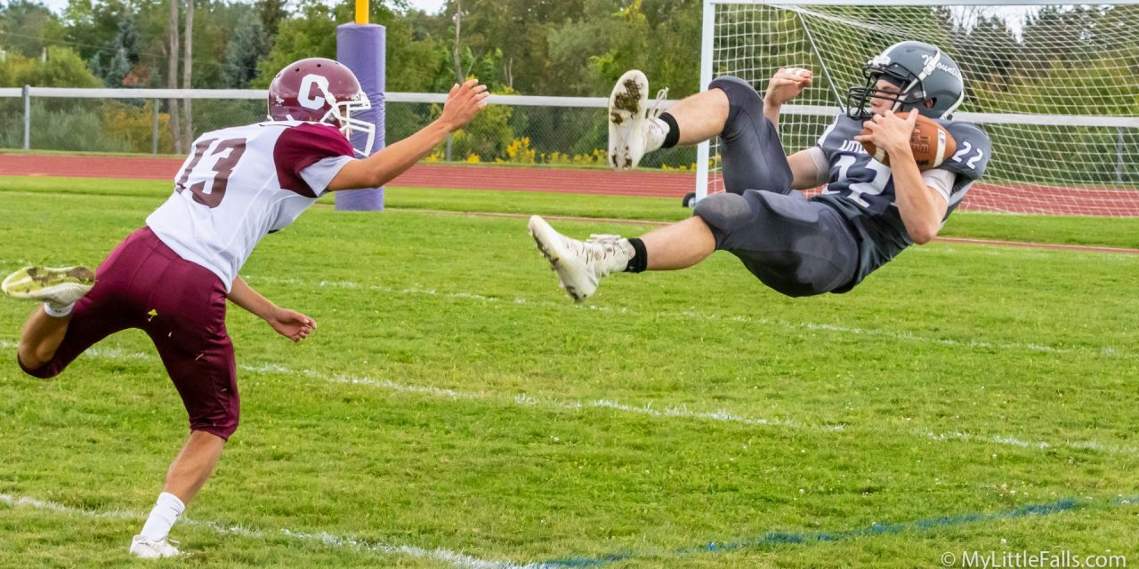 Mounties go airborne in 21 – 13 victory