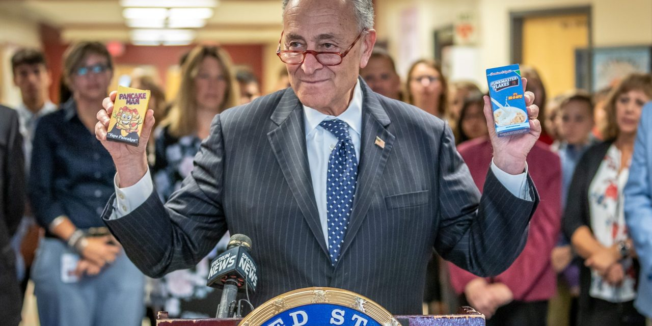 Schumer highlights national vaping concerns with visit to LFHS