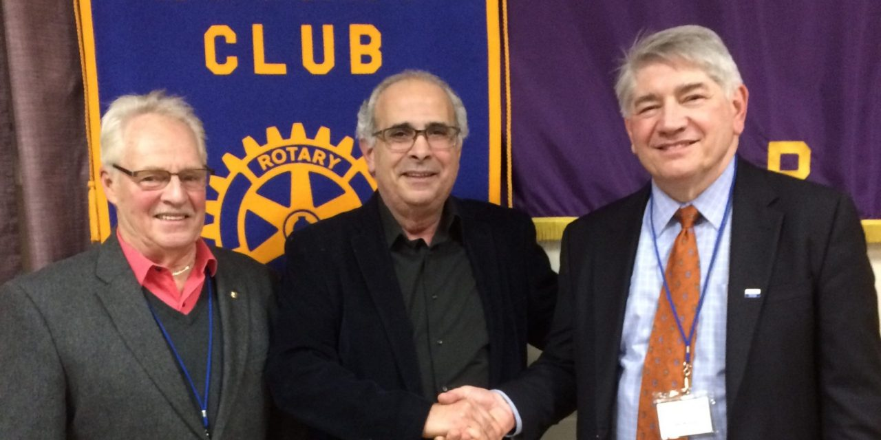 Zogby addresses Rotary