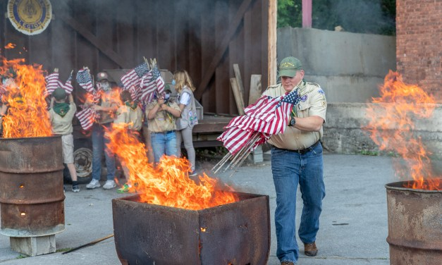 Flag retirement ceremony held at American Legion