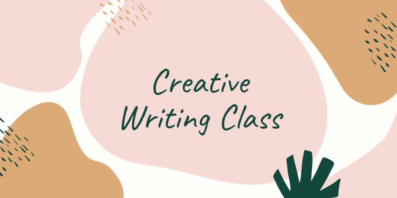Library hosting free Creative Writing Class via Zoom