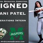 DiamondDawgs add Patel as intern