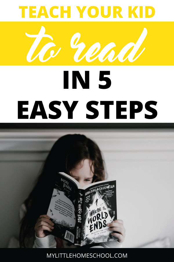 Teach your kid to read in 5 easy steps. In this post I'll tell you how to make it an easy and also enjoyable process for you and your child.