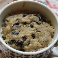 Cookie Dough Mug Muffin, gluten-free, vegan, sugar free