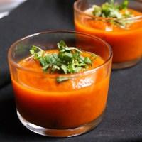 Carrot Mint Gazpacho (Vegan)