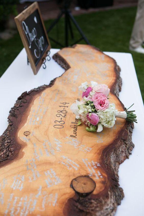 alternativas al libro de firmas boda