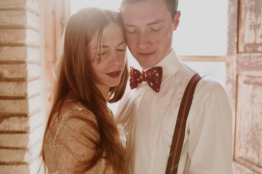 fotografía novios boda otoñal