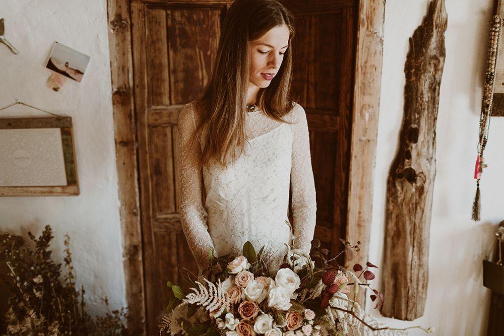 novia boda otoñal