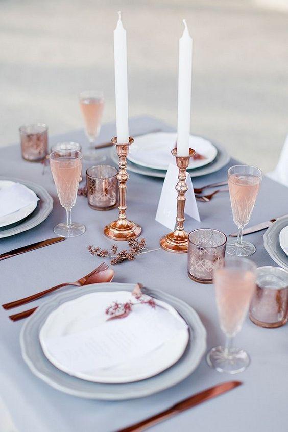 decoración boda color serenity