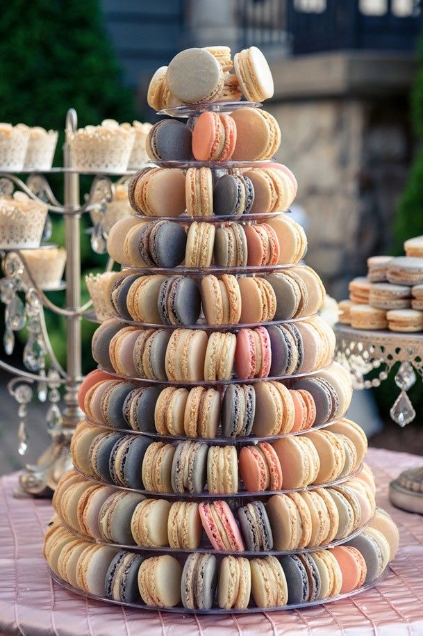 tarta macarons boda