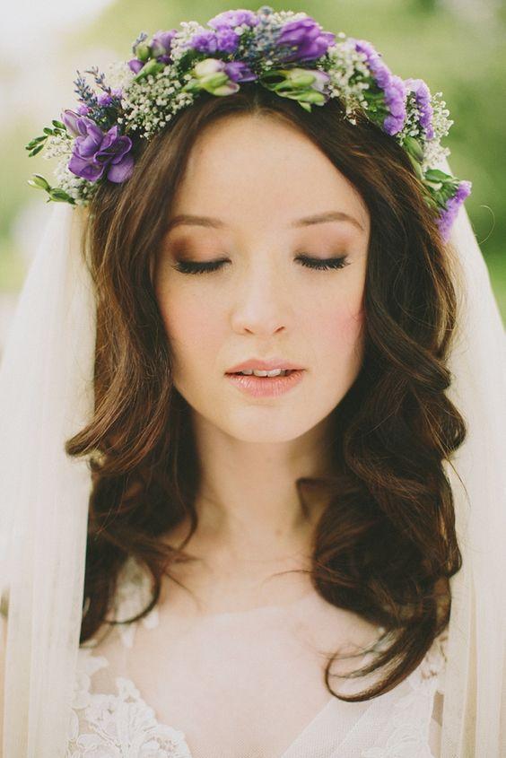 tocado novia ultra violet