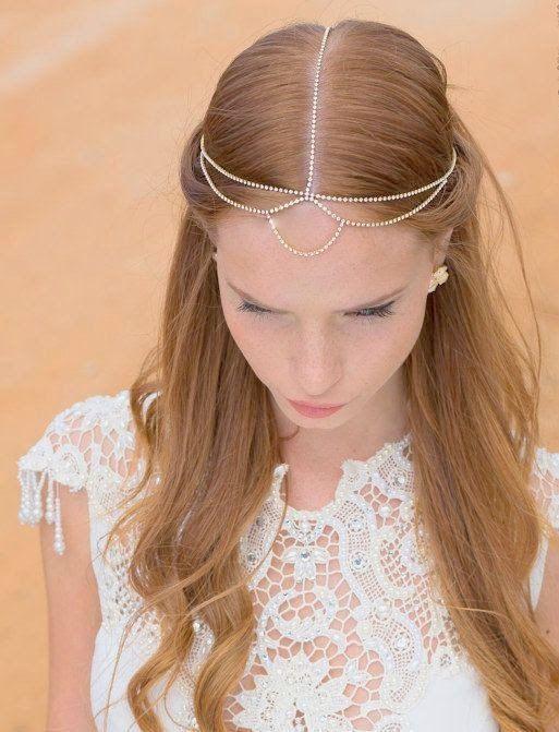 cadenas pelo wedding chain headpiece