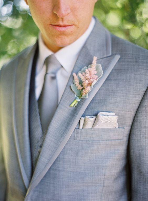 pañuelo y prendido novio boda