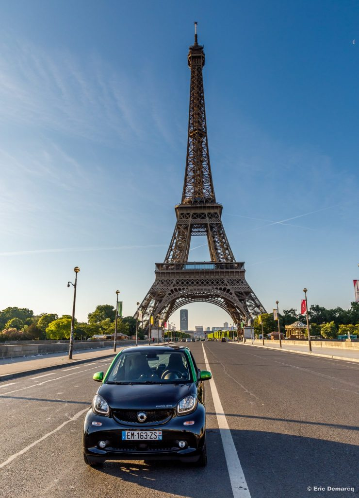 smart Como électrise la Tour Eiffel
