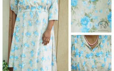 Giveaway and review: Nursing dress from Threads and Shuttles | For an easy and most functional nursing access