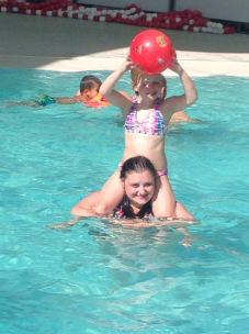 That time Ava nearly drowned me in the pool.