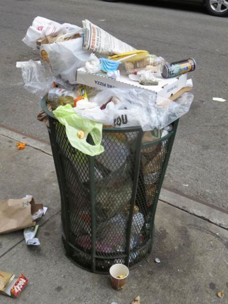 Overfilled Trashcan