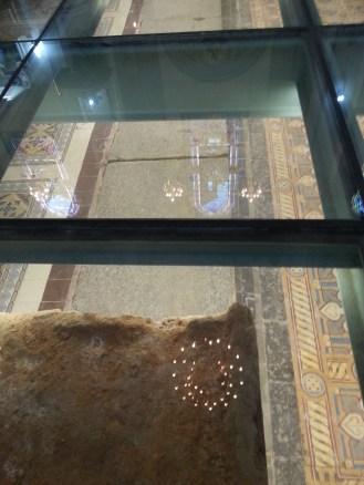 The original tiled floor