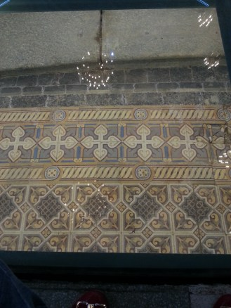 Another shot of the hydraulic tiled floor