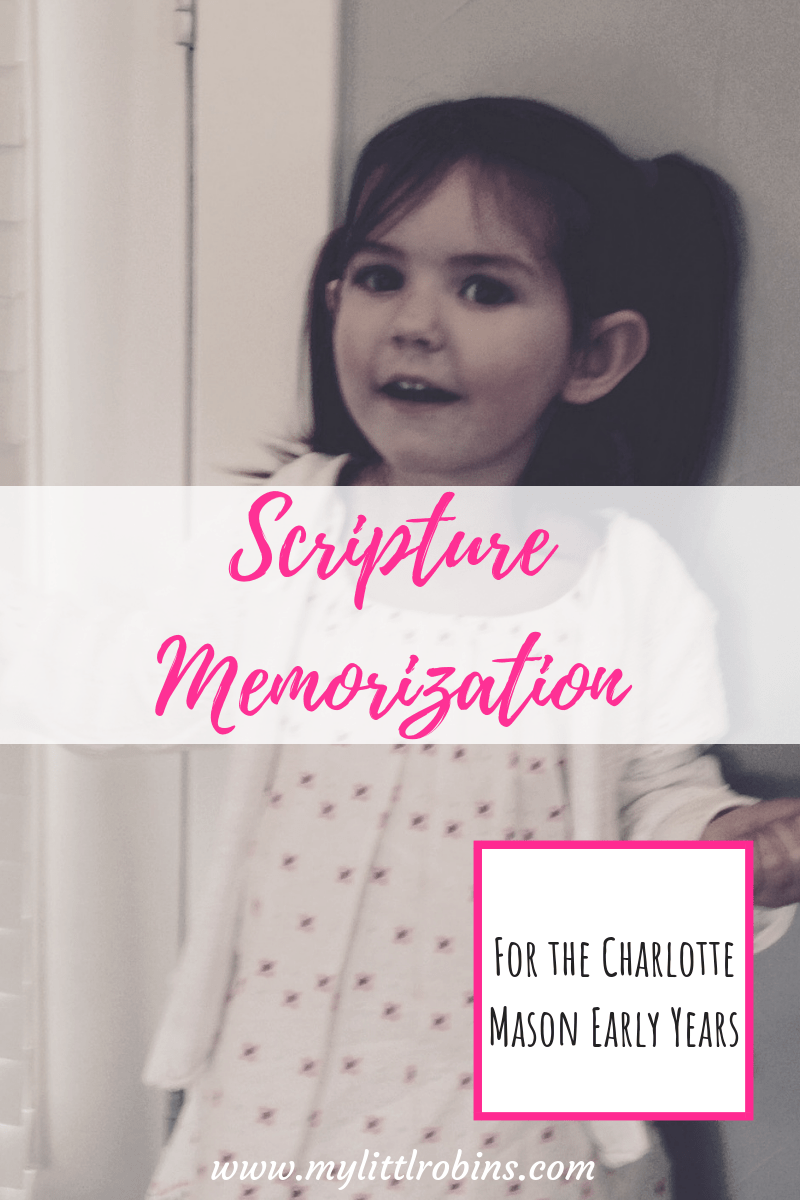 Charlotte Mason scripture memorization for the early years