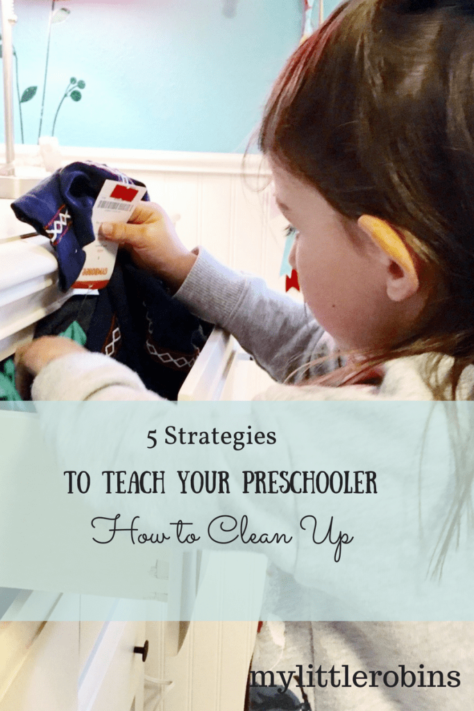 5 Strategies to Teach Your Preschooler to Clean Up