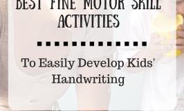 Fine Motor Skill Activties