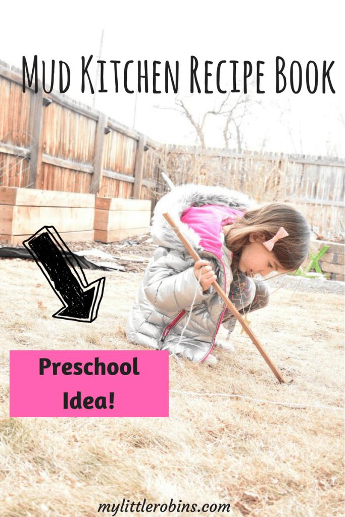 #Preschool idea- Mud Kitchen recipe book