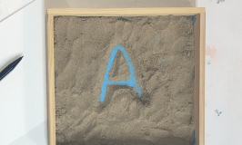 #handwriting #sandtray for early years letter formation