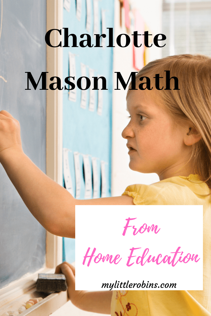 Charlotte Mason math, from Home Education