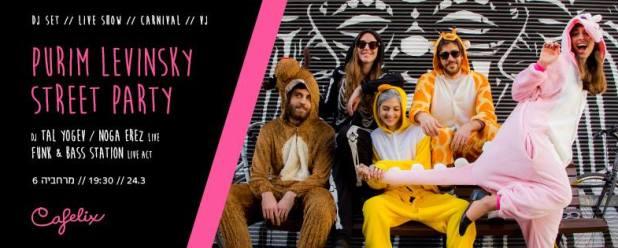 Florentin Street Party Jeudi 24 mars – 19h30 – Cafelix (Merhavya 6, Tel Aviv)