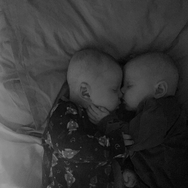 6/365 My post is a little late today. The babies are off, I think teething has kicked in. They are unsettled and wake from naps crying. It took me 2 hours to settle them this afternoon and all they wanted to do was snuggle. They have an incredible bond, it's beautiful to watch.