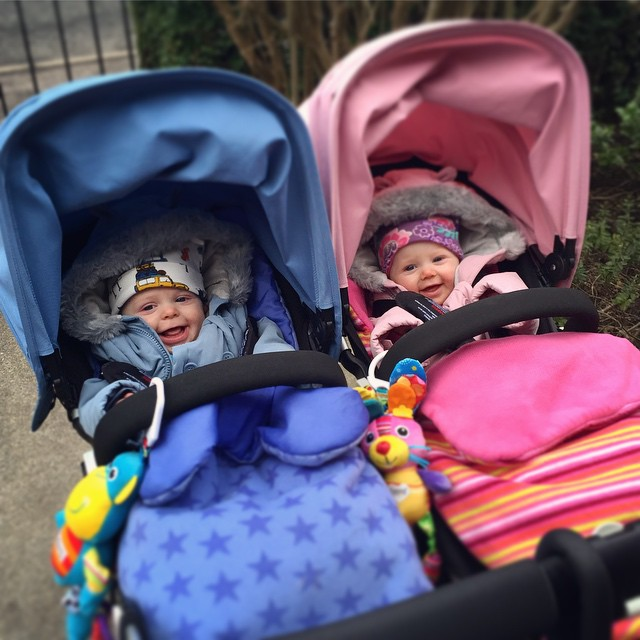 34/365 We've upgraded from prams to pushchairs, them seem pretty happy with themselves! We love our #bugaboodonkey