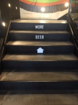 More Beer staircase to the top level of Breakside Brewery