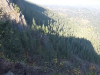 Dropoff at the top of Rattlesnake Hike.