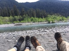 Five Mile Island. Our view of the Hoh River.