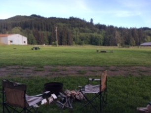 View from our Forks campsite, Last Chance Campground