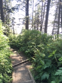 Hike down to Second Beach