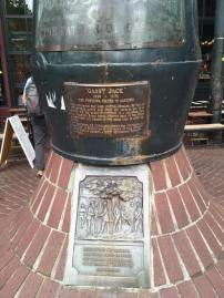 Gassy Jack statue base