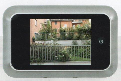 electronic spyhole with colour screen close up ηλεκτρονικό ματάκι πόρτας με έγχρωμη οθόνη Loft mylofteu