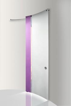 casali white purple sl κρυστάλλινη καμπύλη συρόμενη πόρτα Loft mylofteu